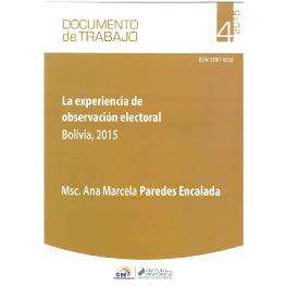 Documento de trabajo No. 4